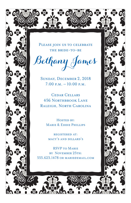 Black and White Partisan Invitation