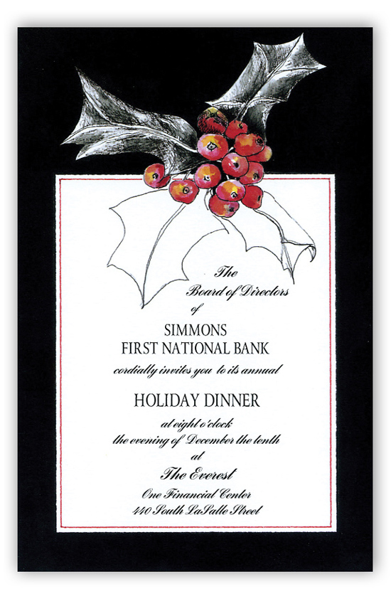 Black Berry Invitation