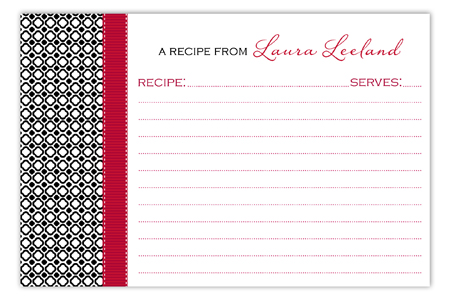 Black Cheer Recipe Card