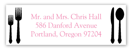 Black Plated Dinner Address Label