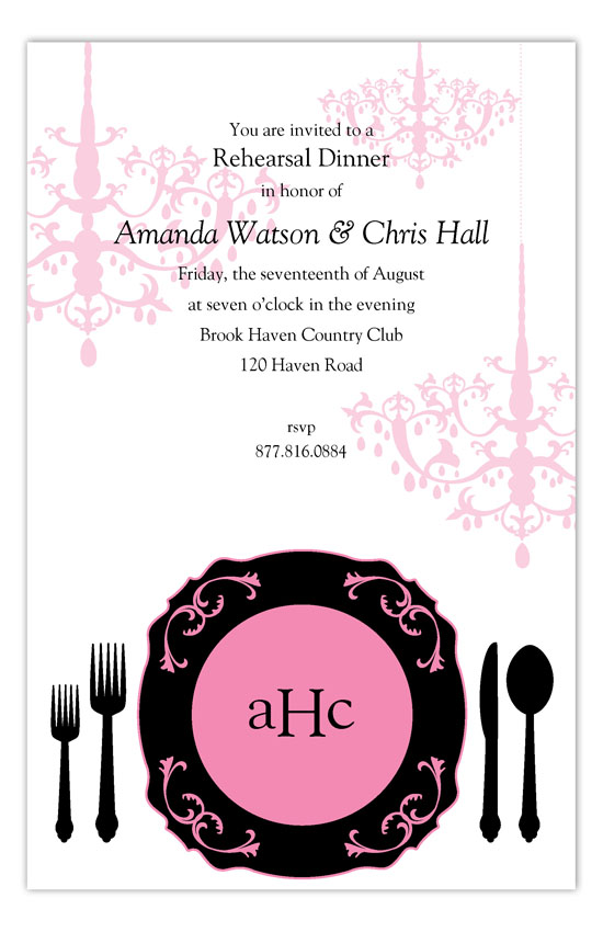 Black Plated Dinner Invitation