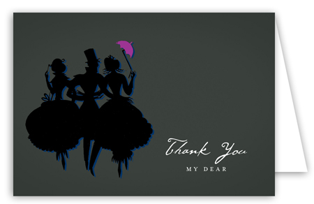Black Savvy Party Note Card