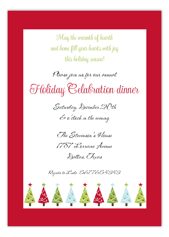 Christmas Bliss Holiday Invitations