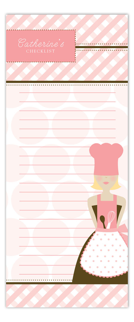Blond Chef Notepad