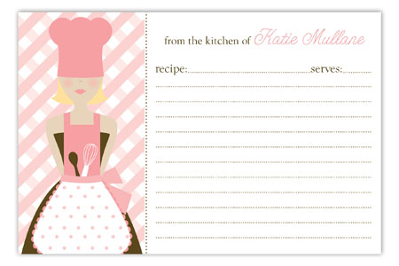 Blond Chef Recipe Card