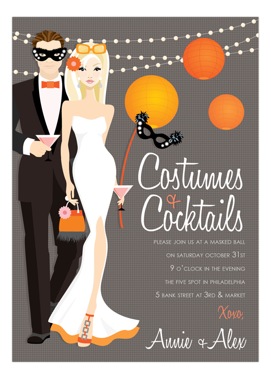 Blonde Costumes + Cocktails Invitation