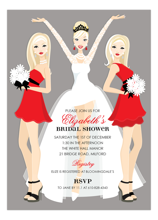 Blonde Holiday Bridal Beauties Invitation