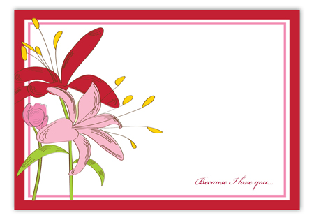 Blooming Love Valentine Card