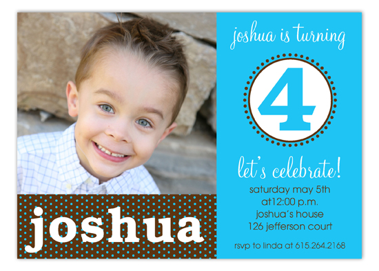 Blue Birthday Seal Photo Invitation