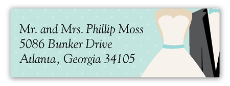 Blue Bow Tie Address Label