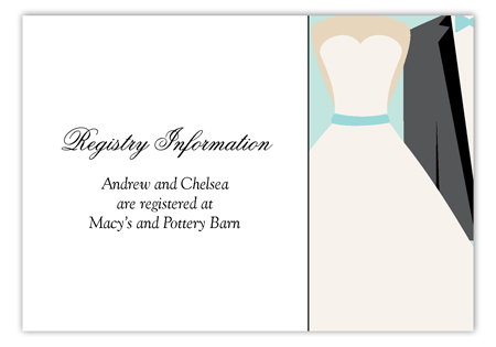 Blue Bow Tie Enclosure Card