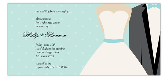 Blue Bow Tie Invitation