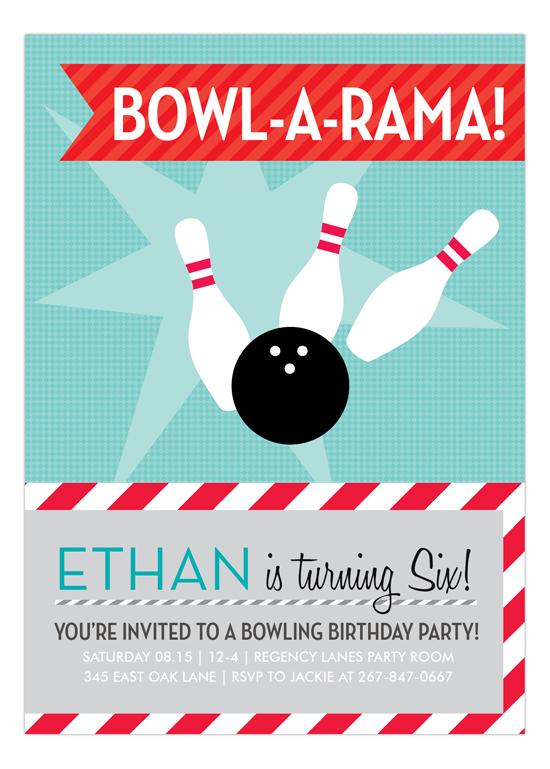 Blue Bowl-a-rama Invitation