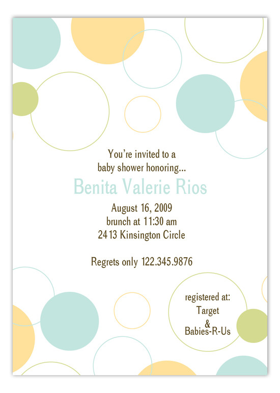 Blue Bubble Dots Invitation