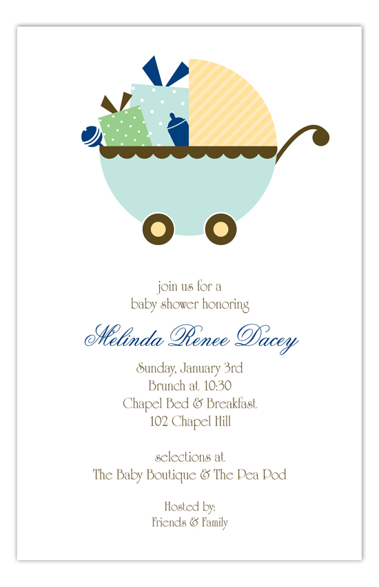 Blue Carriage Gifts Invitation