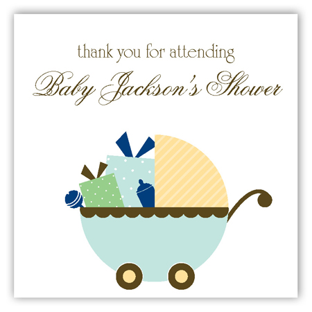 Blue Carriage Gifts Square Sticker