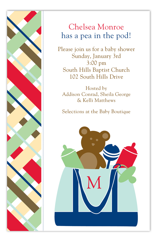 Blue Diaper Bag Invitation