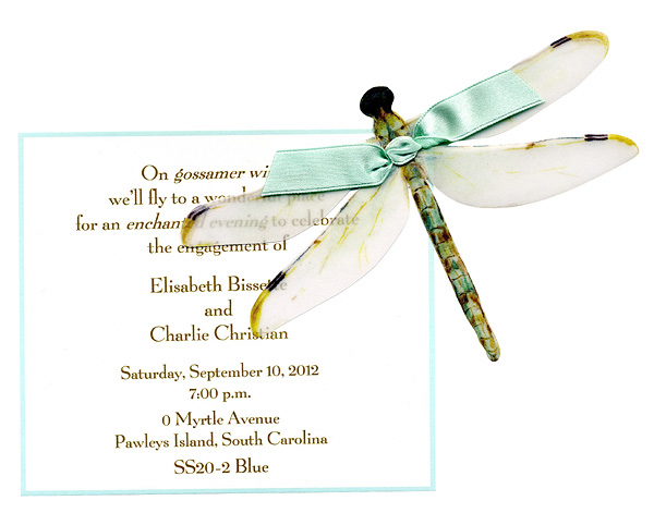 Blue Dragon Fly Invitation