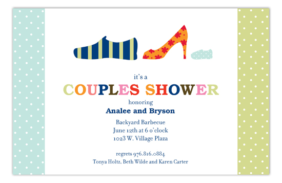 Blue Family Shoes Invitation