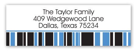 Blue Graduation Year Address Label