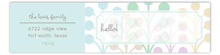 Blue Hello Envelope Wrap