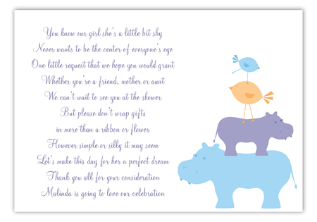 Blue Hippos Enclosure Card