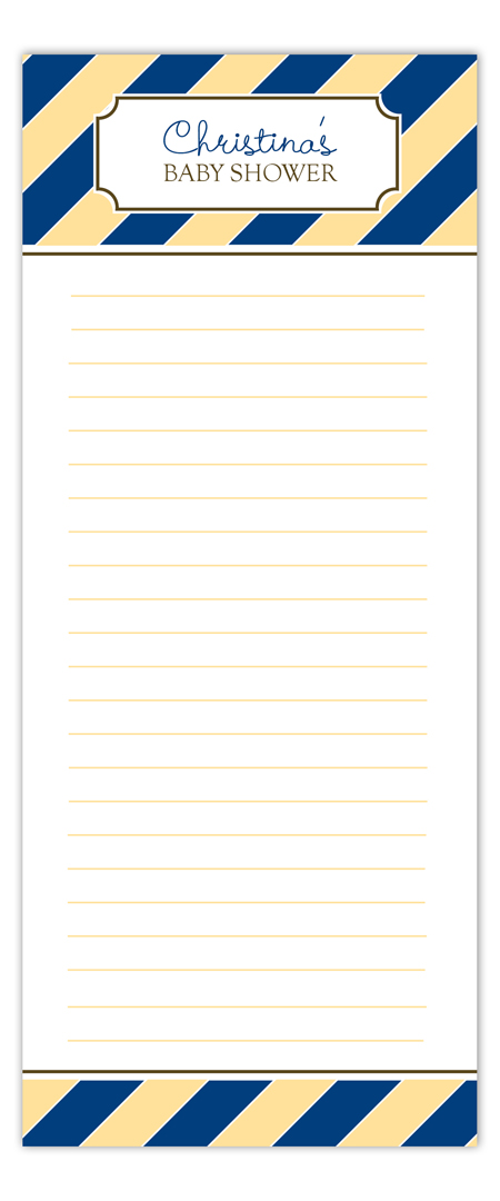 Blue Monkey Stripes Notepad