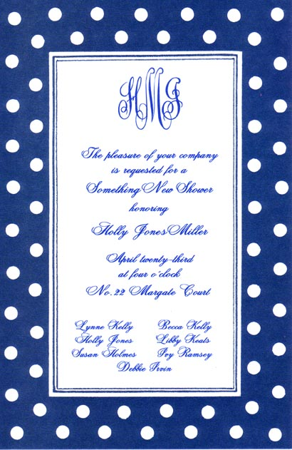 blue polka dots invitation polka dot design