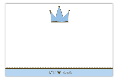 Blue Royal Flat Note Card