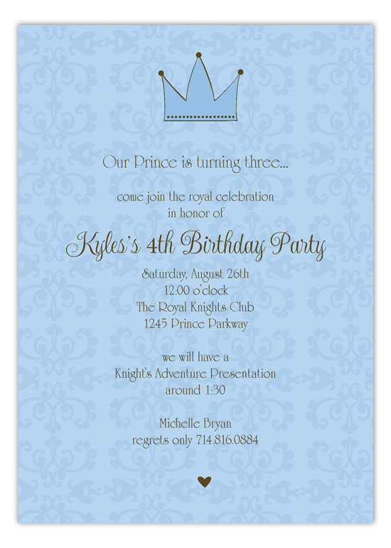 Blue Royal Invitation