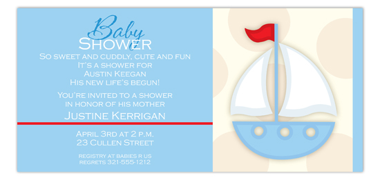 Blue Sailboat Invitation