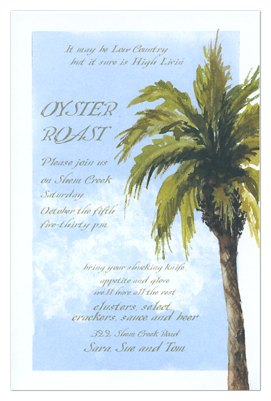 Blue Skies Invitation