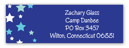 Blue Stars Camp Address Label