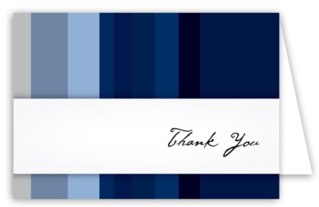 Blue Stripes Note Card
