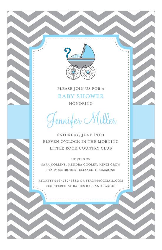Twin Baby Shower Invitations