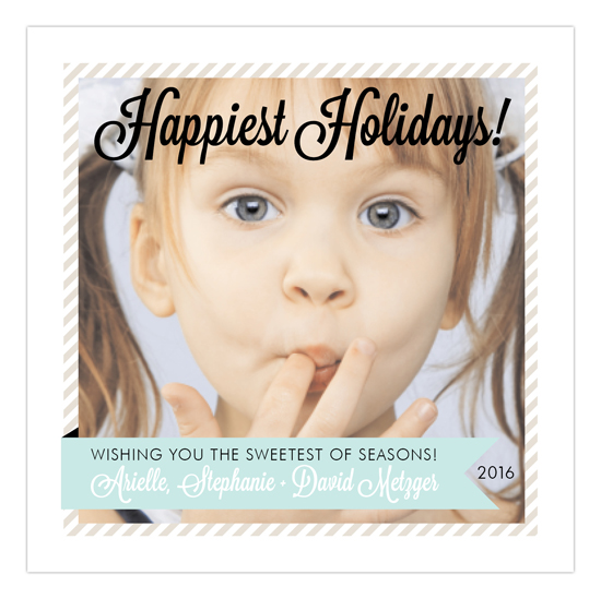 Blue Sweetest Holiday Photo Card