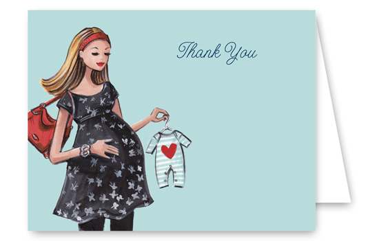 Beautiful Baby Blue Thank You Card