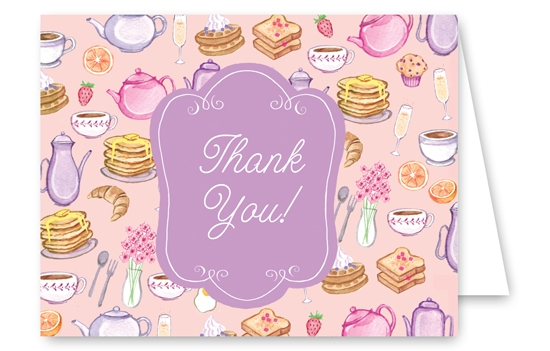 Bridal Shower Brunch Thank You Card