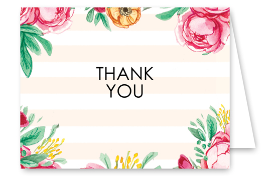 Engagement Stripes Thank You Card