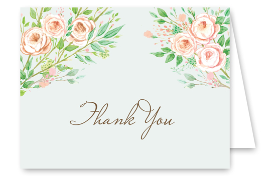 Beautiful Bridal Banner Thank You Card