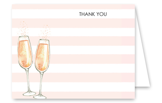 Cheers to Us Thank You Card