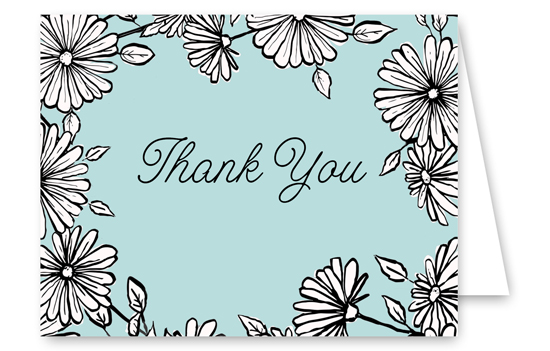 Flower Shower Thank You Card