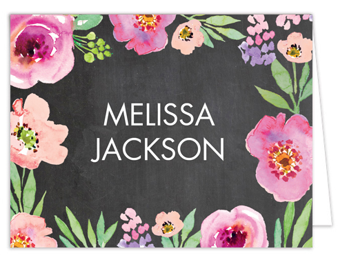 Watercolor Bridal Shower Chalkboard Thank You