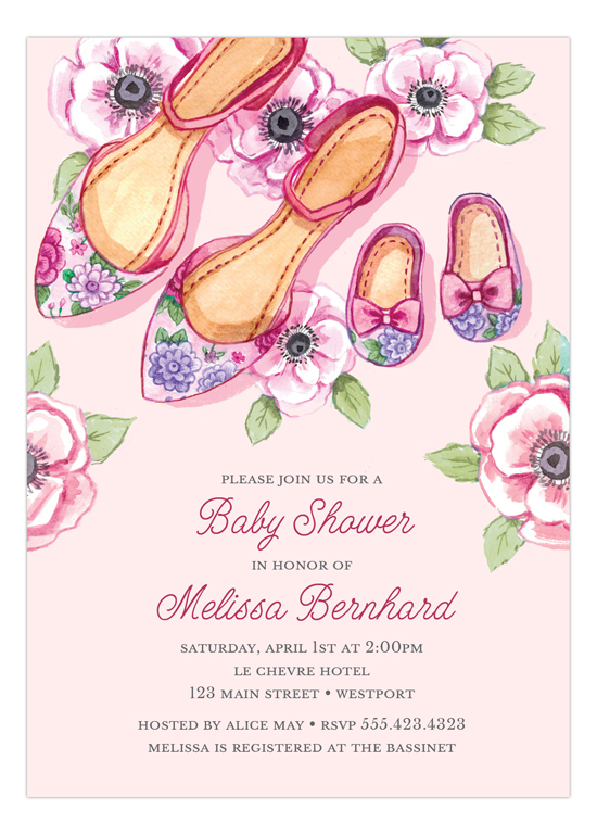 Baby Shoes Baby Shower Invitation