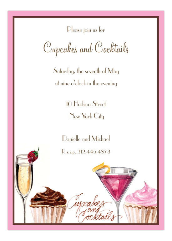 Cupcakes and Cocktails Party Invitation