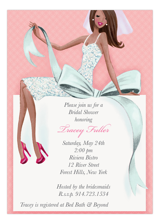 Multicultural Beautiful Bridal Shower Invitation