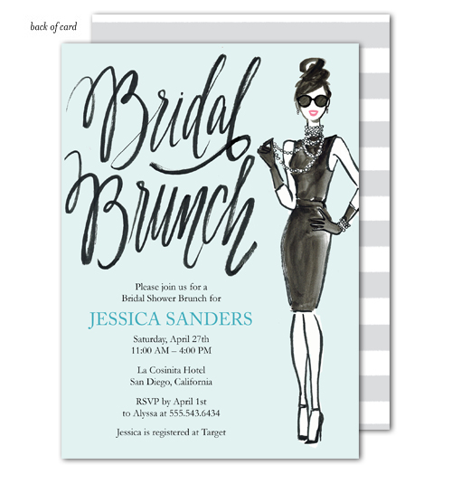 Blue Bridal Brunch Invitation