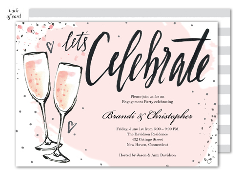 Bubbly Pink Party Invitation