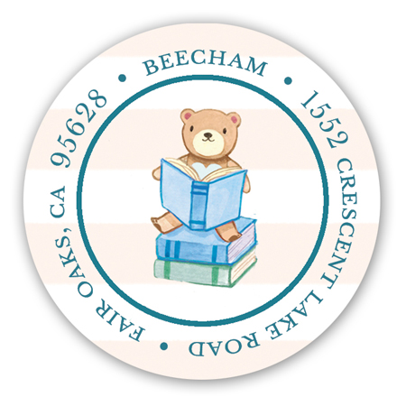 Book Baby Shower Sticker for Boys