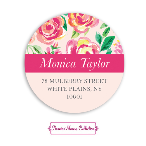 Watercolor Pink Blossoms Return Address Sticker